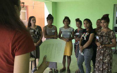 Menstrual hygiene classes in Castelu for teenage girls and women